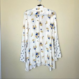 Free People Tate Floral Bell Sleeve Tunic Top